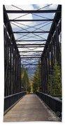 Old Canmore Railroad Bridge Beach Towel