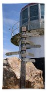Old Cape Point Lighthouse In South Africa Beach Towel