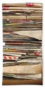 Old Cardboard Boxes  Beach Towel