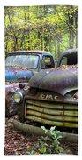 Old Cars Beach Towel