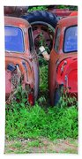 Old Cars Beach Towel
