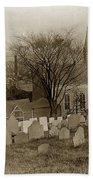 Old Church's Cemetery Graveyard Boston Massachusetts Circa 1900 Beach Towel