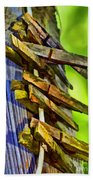 Old Clothes Pins II - Digital Paint Beach Towel