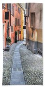 Old Colorful Stone Alley Beach Towel