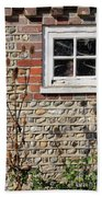 Old Cottage Window Sussex Uk Beach Towel