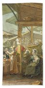 Old Covent Garden Market Beach Towel by George the Elder Scharf