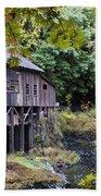 Old Creek Grist Mill In Autumn Beach Sheet