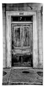 Old Door - Bw Beach Towel