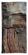 Old Door Textures Beach Towel