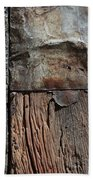 Old Door Textures Beach Towel