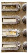 Old Doorbells Beach Towel
