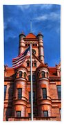 Old Dupage County Courthouse Flag Beach Towel