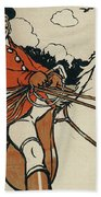 Old English Sports And Games Hunting Beach Towel