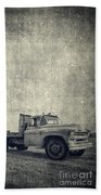 Old Farm Truck Cover Beach Towel