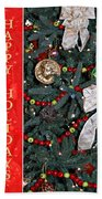 Old Fashioned Christmas Beach Towel by Carolyn Marshall