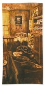 Old Fashioned Kitchen Again Beach Towel