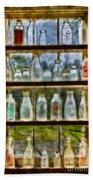 Old Fashioned Milk Bottles Beach Sheet