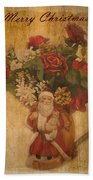 Old Fashioned St Nick Beach Towel