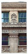 Old First National Bank - Building - Omaha Beach Towel