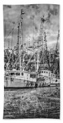 Old Fishing Boats Beach Towel