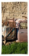 Old Flatbed International Truck Beach Sheet