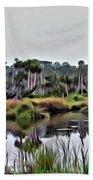 Old Florida Waterway Beach Towel