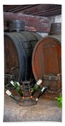 Old French Wine Casks Beach Towel