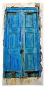 Old Greek Shutter Beach Towel