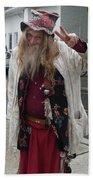 Old Hippie In Woodstock Ny  Beach Towel