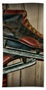 Old Hockey Skates Beach Towel by Paul Ward