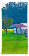 Old House And Harvest Time Beach Towel