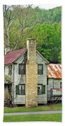 Old House In Penrose Nc Beach Towel