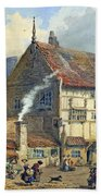 Old Houses And St Olaves Church Beach Towel