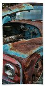 Old International Hood And Fender  Hdroc4224-13 Beach Towel