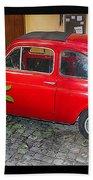 Old Italian Car Fiat 500  Beach Towel