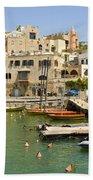 Old Jaffa Port Beach Towel