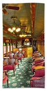 Old Lounge Car From Early Railroading Days Beach Towel