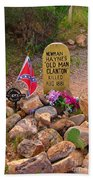 Old Man Clanton At Boot Hill Beach Towel