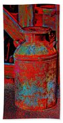 Old Milk Pail Pop Art Beach Towel