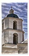 Old Mission San Luis Rey Tower - California Beach Towel