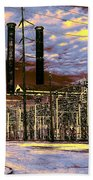 Old New Orleans Electric Plant Beach Towel