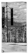 Old New Orleans Power Plant Beach Towel