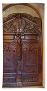Old Ornamented Door Beach Towel