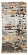 Old Painted Wood Abstract No.1 Beach Towel by Elena Elisseeva