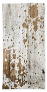 Old Painted Wood Abstract No.3 Beach Towel