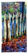 Old Picket Fence Greenbrier School Beach Towel