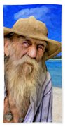 Old Pirate Bill Beach Towel