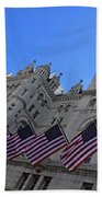 The Old Post Office Or Trump Tower Beach Towel