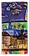 Old Prague Magic - Wallpaper Beach Towel by Daniel Janda