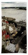Old Quebec City By St.lawrence Beach Towel